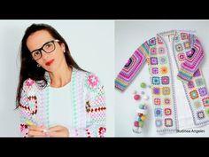 Chaqueta/Campera colorida hecha con granny squares ⋆ Manualidades Y DIYManualidades Y DIY