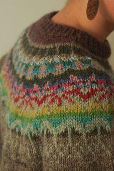 Handmade natural Icelandic style by TASSSHA Crochet Quilt, Knit Crochet, Knitting Designs, Knitting Projects, Icelandic Sweaters, Stitch Book, Fair Isle Pattern, Fair Isle Knitting, Yarn Crafts