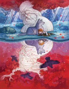 """Heart Tree Reflections"" by Kaeti Vandorn from the Kickstarter book"