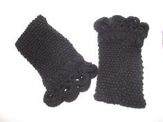 Chauffe poignet en laine noir