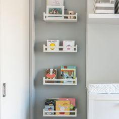 Dorion Project Reveal - Little girl bedroom - Valérie De L'Étoile Interior Design Floating Shelves, Bookcase, Design, Home Decor, Decoration Home, Room Decor, Wall Shelves, Book Shelves