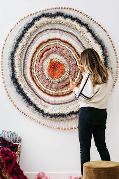 Textile art by Tammy Kanat #weaving #textileart