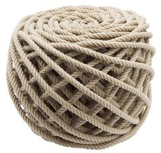 Rope ottoman. Just the coolest thing ever. #franklinandben #projectnursery #nursery