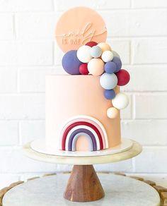 Rainbow First Birthday, Baby 1st Birthday, 1st Birthday Parties, Birthday Cakes, Pretty Cakes, Cute Cakes, Cake Story, Diy Birthday Decorations, Celebration Cakes