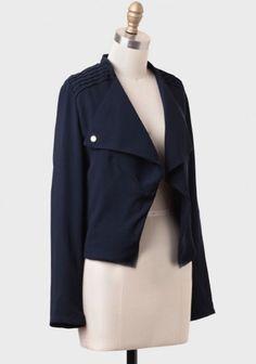 Secret Society Draped Blazer   Modern Vintage Outerwear   Modern Vintage Clothing