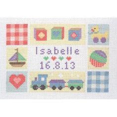 Anchor Cross Stitch Kit - Baby Sampler