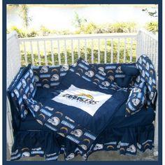 Custom made baby nursery crib bedding set made with san diego boy and girl sd charger theme san diego love blue yellow nursery crib negle Images