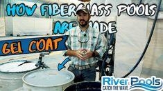 How Fiberglass Pools Are Made; Gel Coat; Part 2 of 8 Fiberglass Swimming Pools, Wave Pool, Coat, Fiberglass Pools, Sewing Coat, Peacoats, Coats, Jacket
