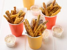 Cajun Zucchini Fries : The combination of panko and cornmeal makes these fries (inspired by the flavors of Louisiana) especially crunchy. Serve them in cute paper cups for a picnic-style party wherever you are.