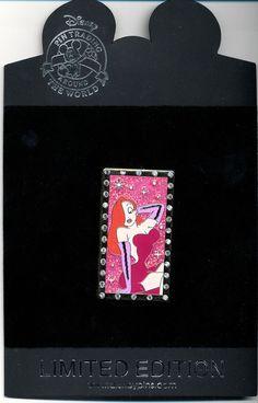 DISNEY JESSICA RABBIT Rhinestone LE 250 Pin New On Card Roger