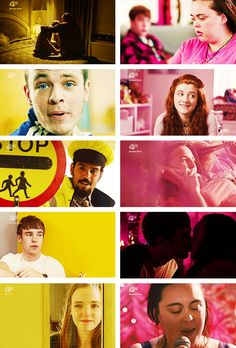 my mad fat diary + yellow&pink