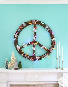 DIY Peace Wreath