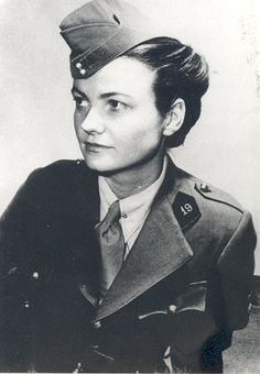 """Leonora Ashton Lindsley. A peculiar Clubmobiler. She was assigned to Group E, but later, after the liberation of Paris, she joined to Rochambeau group of the French 2nd Armored División, """"The Rochambelles"""". She was killed in a  road accident the day before the VE Day ."""