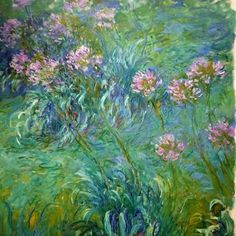 Claude Monet Agapanthus MOMA NY anagoria - Claude Monet - Wikipedia, the free encyclopedia Claude Monet, Monet Paintings, Impressionist Paintings, Van Gogh Museum, Pierre Auguste Renoir, Edouard Manet, Museum Of Modern Art, Kandinsky, Flower Art