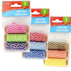 <p> A natural solution to all your crafting projects! Bi-colored twine in assorted colors are also great for use in gardens and nurseries to tie back plants or for use in packaging, mailing, and bun