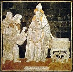 Hermes Trismegistus, given as author of the Hermetic Corpus, a series of sacred texts that are the basis of Hermeticism.