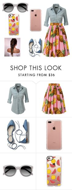 """makes me hungry"" by skirtsandshirts ❤ liked on Polyvore featuring LE3NO, Dolce&Gabbana, Gap, Belkin, Ace and Casetify"