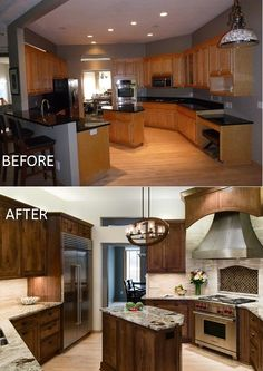 Cherry Kitchen Remodel Before and After | Ohana Home & design ...