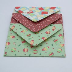 Christmas Gift Card Envelopes seal with by JustKeepPinning on Etsy, £1.20
