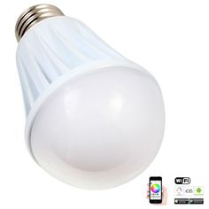 Find More Smart Illumination Information about E27 7W Bright RGB Wireless WiFi Smart Timing LED Light Bulb for Smart Phone Control   110   240V 5630,High Quality e27 20w,China e27 rgb led lamp Suppliers, Cheap e27 110v from Guangzhou Etoplink Co., Ltd on Aliexpress.com