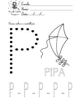 Meus Trabalhos Pedagógicos ®: ATIVIDADES COM PONTILHADOS -APOSTILA LETRAS DO ALFABETO