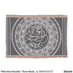 Shop White Rose Mandala - Throw Blanket created by GRAPHICSITE. Mandala Rose, Geometric Mandala, Mandala Design, Mandala Throw, Photo Memories, Wedding Announcements, White Roses, Are You The One, Family Photos