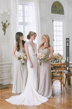 tan bridesmaid dresses | CHECK OUT MORE IDEAS AT WEDDINGPINS.NET | #bridesmaids