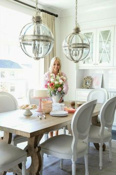 Love the lights above the dining room table *SecretSisterShop.com ~work*live*shop~