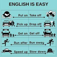 Some phrasal verbs English Learning Spoken, Teaching English Grammar, English Writing Skills, Learn English Words, English Language Learning, German Language, Japanese Language, Teaching Spanish, Spanish Language