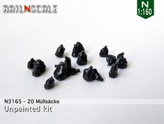 20 Müllsäcke (N by railNscale on Shapeways. Learn more before you buy, or discover other cool products in Scenery.