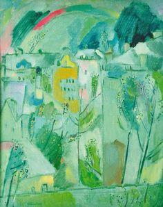 "Gennady Glakhteev ""Green Spring"" 1967 75х68   Геннадий Глахтеев ""Зеленая весна""   1967 ь75х68"