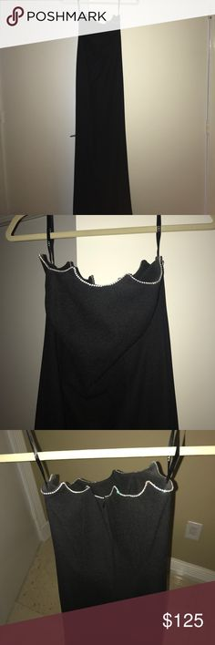 Black Strapless Dress from ABS with Rhinestones Black Strapless Dress from ABS with Rhinestones Worn Once!!! ABS Allen Schwartz Dresses