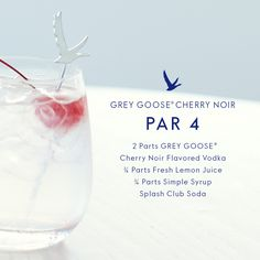 Elevate your game with a fresh Grey Goose Par 4 cocktail.