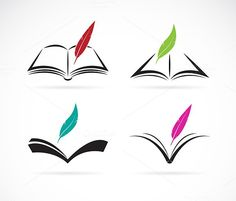Find Vector Image Book Feather On White stock images in HD and millions of other royalty-free stock photos, illustrations and vectors in the Shutterstock collection. Thousands of new, high-quality pictures added every day. Farm Vector, Cow Vector, Eagle Vector, Free Vector Images, Vector Free, Web Design Icon, Logo Design, Graphic Design, Cactus Vector