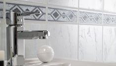 LIGNER FLISER: Casablanca Azzurro fra Fibo-trespo minner om fliser, men er altså laminatbelagte trefiberplater. Sink, Home Decor, Sink Tops, Vessel Sink, Decoration Home, Room Decor, Vanity Basin, Sinks, Home Interior Design