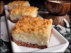 DROBENKOVÝ KOKOSOVÝ MOUČNÍK Cornbread, Tiramisu, Cheesecake, Pie, Sweets, Snacks, Ethnic Recipes, Food, Food Cakes