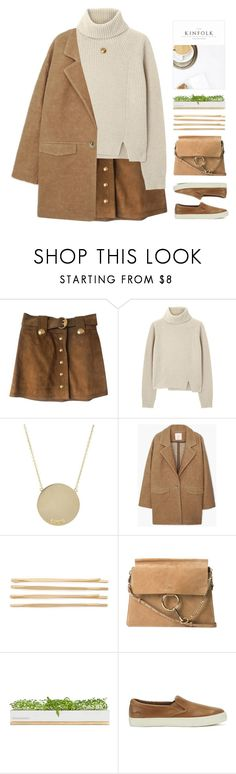 """""""//gold buttons//beige//comfy shoes//"""" by lion-smile ❤ liked on Polyvore featuring Gucci, Proenza Schouler, Jennifer Meyer Jewelry, MANGO, Cara, Chloé, Bambeco and Lauren Ralph Lauren"""
