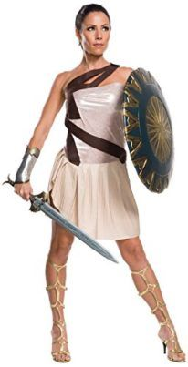 Rubies Costume Co. Womens Movie Deluxe Beach Battle Wonder Woman Costume I want to be wonder woman for halloween she is incredible! #DCcomics #wonderwoman #halloween #halloween2017 #superhero