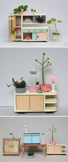the tiny, lovely little world of Duesseldorf based artist Sabine Timm.  http://www.thejealouscurator.com/blog/category/furniture/