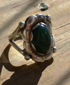 Georg Jensen. Design no. 24. Skonvirke silver and chryoprase ring. View 1.