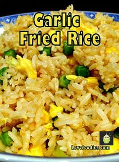 Make some delicious Garlic Fried Rice! I make this often, it's quick, easy and of course super tasty! #chinesefood #friedrice #garlic
