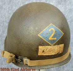 WWII M-1 Helmet 2nd Ranger Bn. NCO