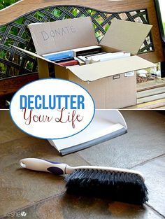 Declutter your life - such great advice when it comes to spring cleaning - or better yet spring cleansing! Declutter Books, Declutter Your Life, Decluttering, Organizing Your Home, Organizing Ideas, Organising, Living At Home, Storage Organization, Bathroom Organization
