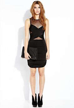 Forever 21 Daring Draped Bodycon Dress | FOREVER 21 - 2000090995
