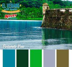 La intensidad del azul y el verde con las vistas de Portobelo View. Si quieren que les asesoremos sobre los colores de su hogar, ¡Les esperamos en Novey!