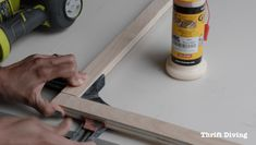 How to make a DIY privacy window screen - Use corner clamps to glue straight. Window Privacy Screen, Bathroom Window Privacy, Bathroom Windows, Bathroom Curtains, Redo Bathroom, Privacy Screens, Bathrooms, Wood Shelving Units, Brighten Room