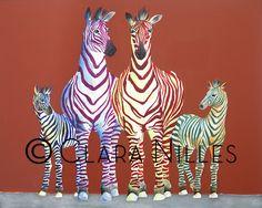 Family Lines.a family of zebras. original acrylic on canvas Zebras, Giraffe, The Originals, Canvas, Artist, Animals, Illustrations, Tela, Felt Giraffe
