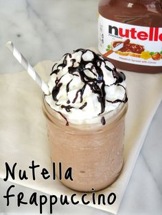 Enjoy the delicious chocolate and hazelnut flavor of Nutella in this tasty frozen Frappuccino!