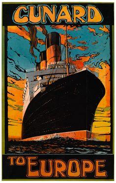 Cunard to Europe - 1921 - illustration : Odin Rosenvinge -