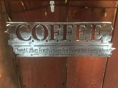 This is a beautiful sign made of 14 gauge steel. The words say it all! This piece would look good in a church or home. The size cant be made smaller